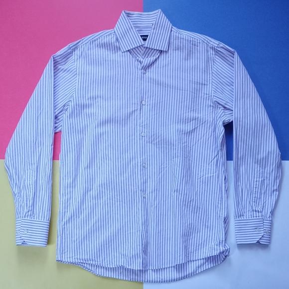 BOSS by Hugo Boss Vertical Purple Striped Shirt